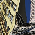 Auto reflection 3, downtown San Francisco by luvdusty