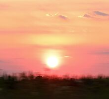 65 MPH Sunset by Ron Russell