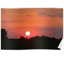 High Speed Sunset Poster