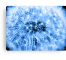 Blue Puff Ball Canvas Print