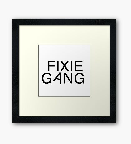 Fixie gang black Framed Print