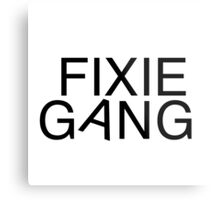 Fixie gang black Metal Print