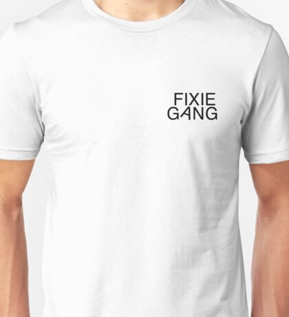 Fixie gang black Unisex T-Shirt