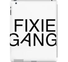 Fixie gang black iPad Case/Skin