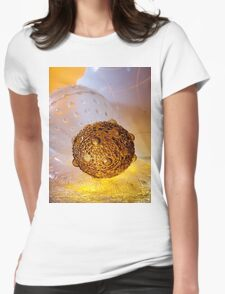 Greetings Earthling Womens Fitted T-Shirt