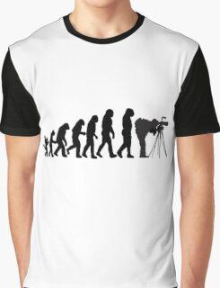 Male Photographer Evolution Tee Shirt Graphic T-Shirt