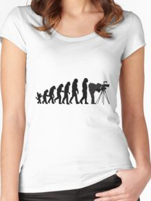 Male Photographer Evolution Tee Shirt Women's Fitted Scoop T-Shirt