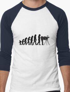 Male Photographer Evolution Tee Shirt Men's Baseball ¾ T-Shirt