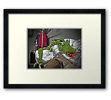 Slithering Dragon Framed Print