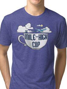 The Mile-High Cup logo Tri-blend T-Shirt