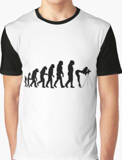 Female Photographer Evolution T-Shirt Graphic T-Shirt