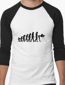 Female Photographer Evolution T-Shirt Men's Baseball ¾ T-Shirt