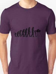Female Photographer Evolution T-Shirt Unisex T-Shirt