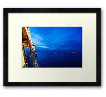 Blue at Sea Framed Print