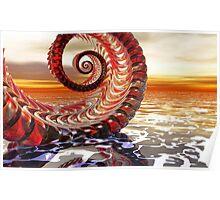 glassy spiral Poster
