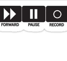 Retro Music Ghetto Blaster Command Buttons T-Shirt Sticker