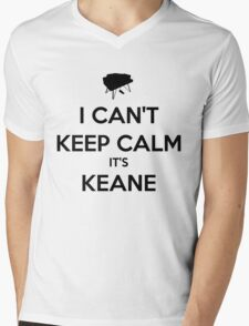 I Can't Keep Calm It's Keane Shirt Mens V-Neck T-Shirt