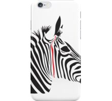 Red Line Zebra iPhone Case/Skin