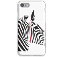 Red Line Zebra iPhone Case/Skin
