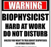 Warning Biophysicist Hard At Work Do Not Disturb by cmmei