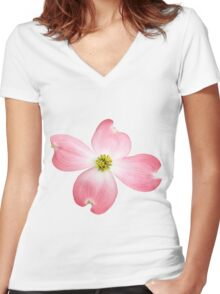 Pink Dogwood Women's Fitted V-Neck T-Shirt