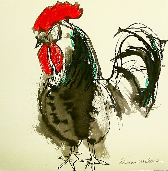 black rooster by donnamalone