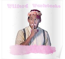 Wilford Warstache Flower Crown Poster