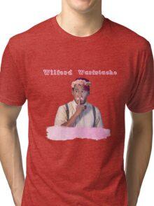 Wilford Warstache Flower Crown Tri-blend T-Shirt