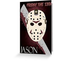 Friday the 13th Minimalist Greeting Card
