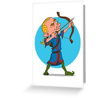 elven archer. Greeting Card