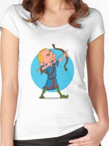 elven archer. Women's Fitted Scoop T-Shirt