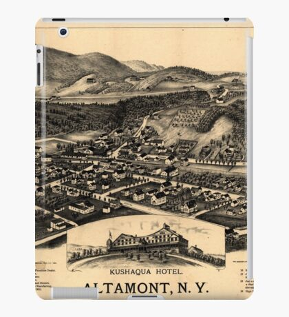 Panoramic Maps Altamont NY iPad Case/Skin