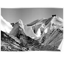 Crevasse climbing Poster