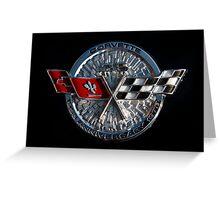 25th Anniversary Corvette Emblem Greeting Card