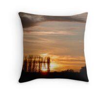 Poplar Sunset Throw Pillow