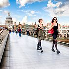 London Vogue - London Skyline and St. Paul's Cathedral by Mark Tisdale