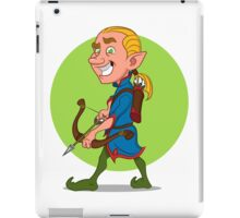 Elf with bow and arrow. iPad Case/Skin