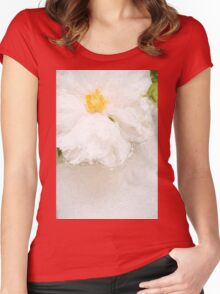 Painted peony Women's Fitted Scoop T-Shirt