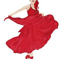 Lady in red. by Josephine Mulholland