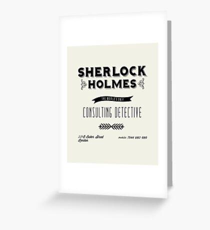 Sherlock Holmes' Business Card Greeting Card