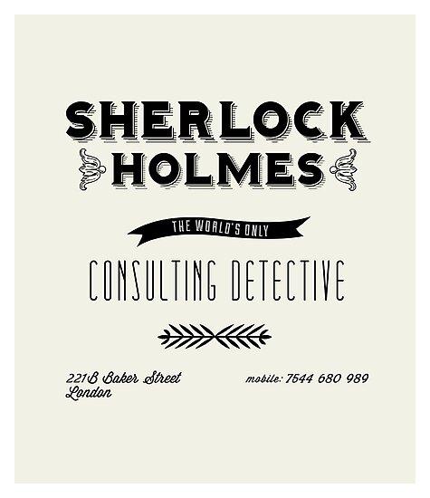 Sherlock Holmes' Business Card by kellydot