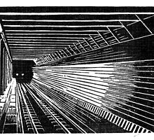 Subway Train Approaching by wonder-webb