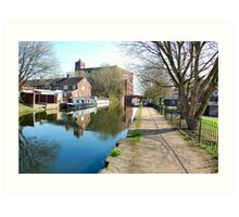 Stroll along the canal footpath. Art Print