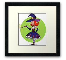 pretty witch. Framed Print