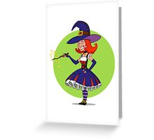 pretty witch. Greeting Card