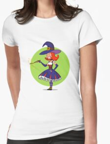 pretty witch. Womens Fitted T-Shirt