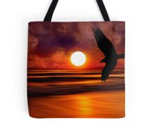 Dreams Fly Beyond Sunset Point   Tote Bag