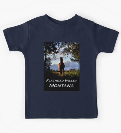 Equine, Evergreen Montana Kids Tee