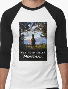 Equine, Evergreen Montana Men's Baseball ¾ T-Shirt