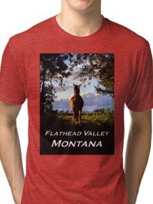 Equine, Evergreen Montana Tri-blend T-Shirt